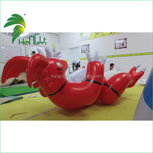 Funny Lying Standing Custom Shape Giant Inflatable Dragon Red Toy