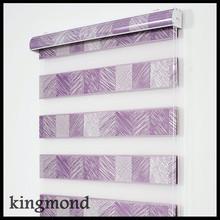 New curtains purple zebra window shutters, roller blinds, colorful zebra blinds
