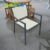 Modern aluminium outdoor chair cheap dining chair hotel outdoor furniture