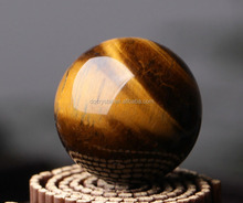 Natural yellow tigers's eye feng shui crystal ball faceted ballsHome Decoration
