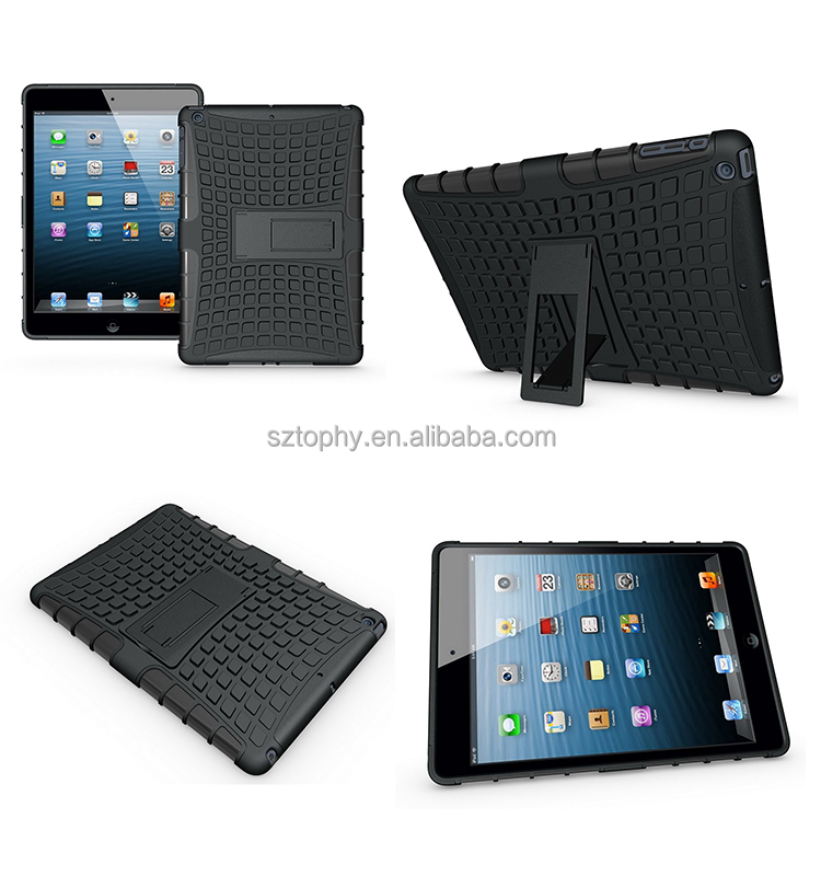 Wholesale Hybrid Combo Drop Resistance Hard Tablet Stand Black Cover For iPad Air, For ipad 5 Spider Tattoo Shatterproof Cases