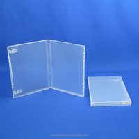 14mm DVD case no CD hub storage box with booklet