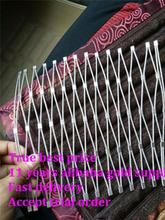 Customized size stainless steel wire rope mesh baluster, railing designs mesh