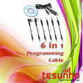 TESUNHO 6 IN 1 USB PROGRAMMING CABLE FOR TWO WAY RADIO