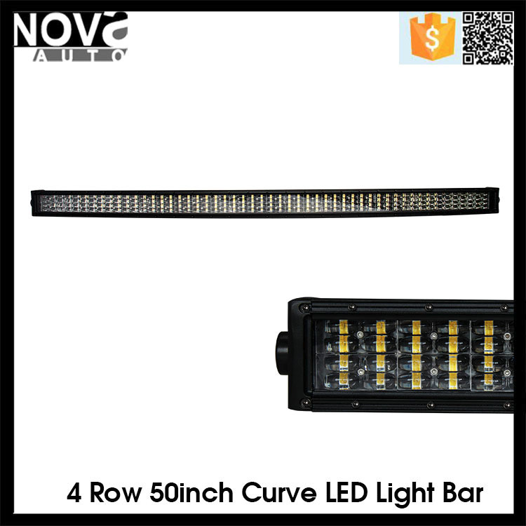 50 inch 4x4 Led Car Light, Curved Led Light bar Off road, auto led light arch bent
