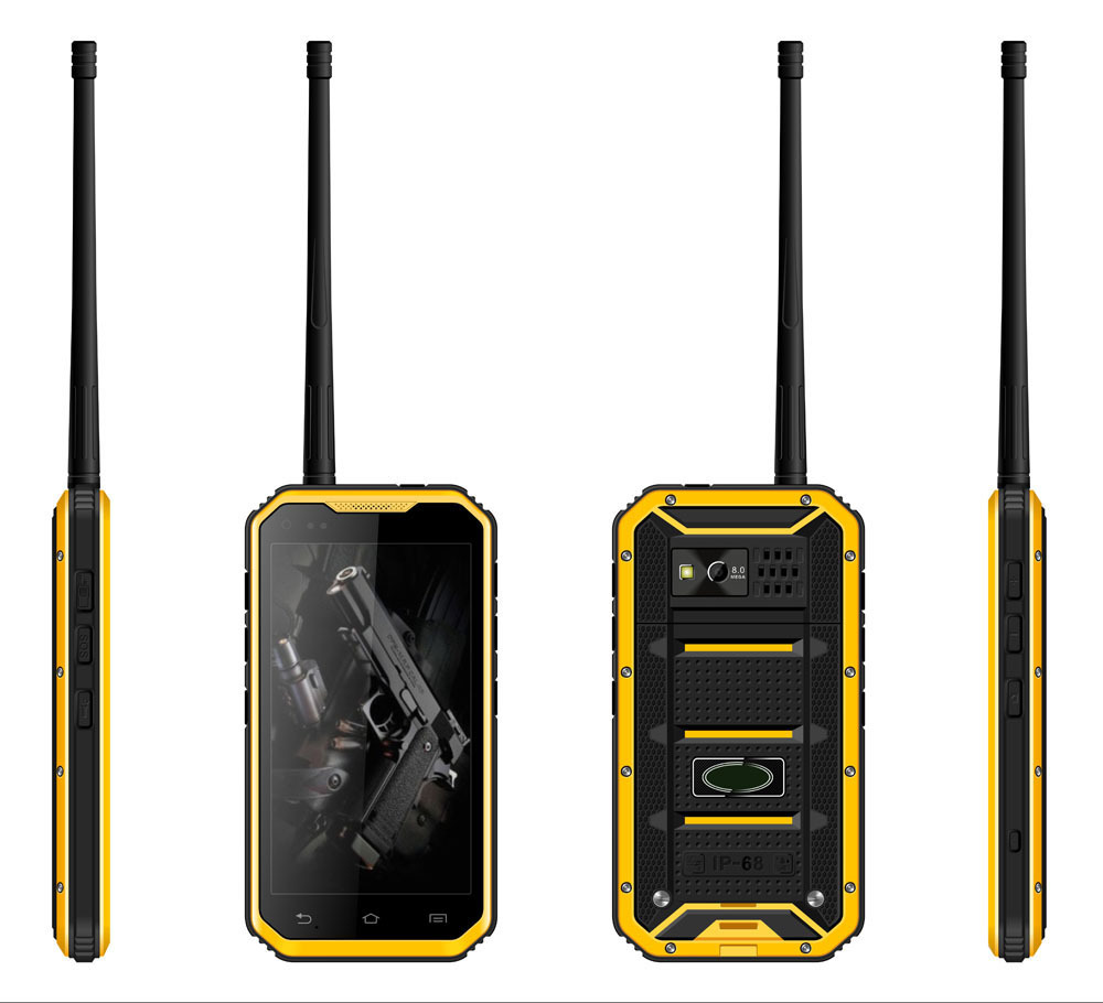 5 inch IPS IP68 rugged smartphone, Waterproof phone, Waterproof smart phone with Waikie-talkie NFC