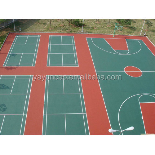polyurethane rubber sports flooring