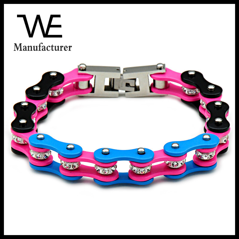 2017 Hot New Products German Stainless Steel Motorcycle Chain Bracelet Jewelry In Stock