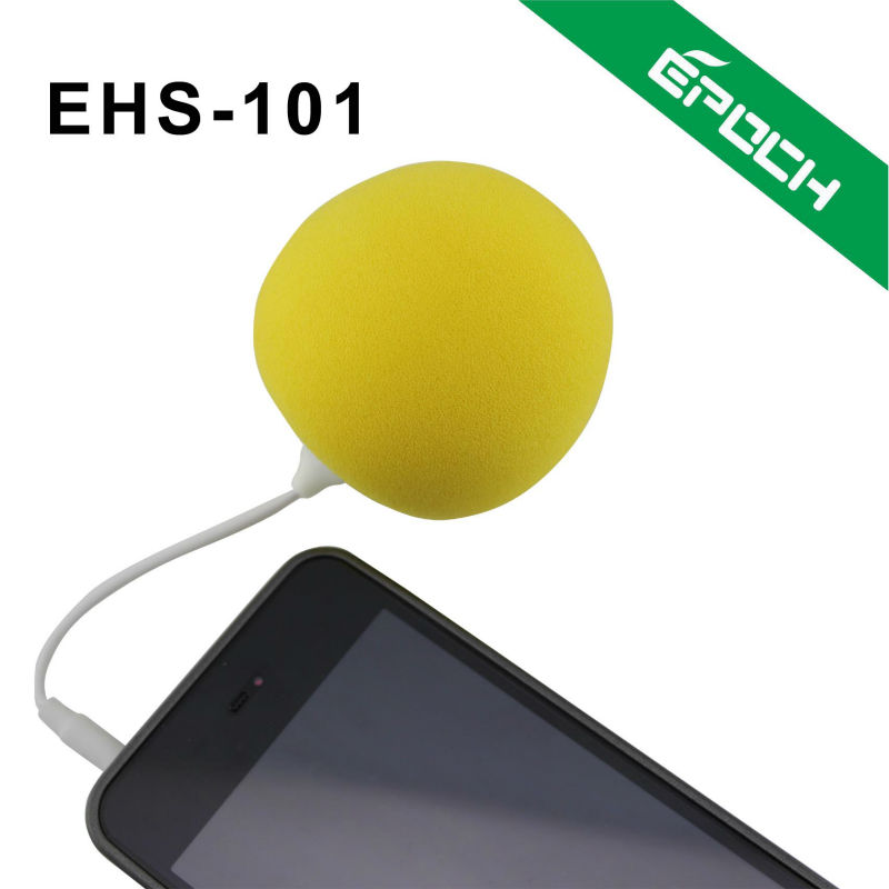 2012 arrival colorful portable ultra thin mini speaker for mobile phone with 3.5mm AUX cable