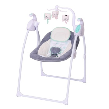 Luxury Electric Musical Foldable Portable Baby swing chair baby seat with removable toys and remote control