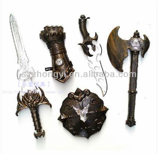 medieval swords plastic toys for young people
