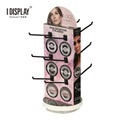 3 Sided Revolving Counter Stand,Cardboard Peg/Hook Counter Display For Eyelash