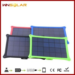 New coming Waterproof Mobile power bank solar charger 5W power bank oval solar smartphone travel charger