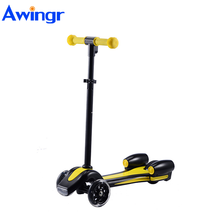 2017 fast selling gift safety rocket spray electric kids 3 wheels kick scooter