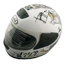 high quality UV painting Motorcycle full face helmet