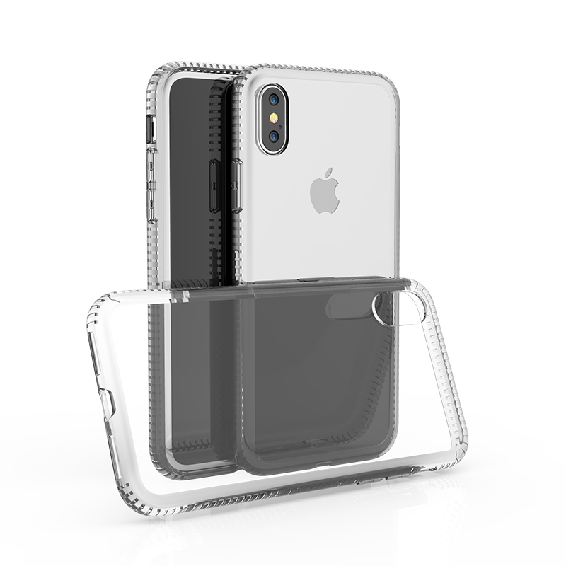 High Transparent Hard PC Back Phone Cover with TPU Frame Bumper Case 2 in 1 Hybrid PC TPU Case for iPhone X