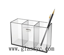 Office & school supplier China wholesale Custom desktop clear acrylic pencil holder acrylic display case
