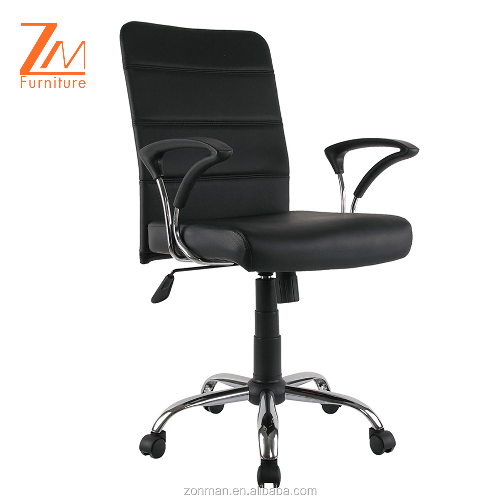 Used by office staff comfortable midding back synthetic leather normal chair