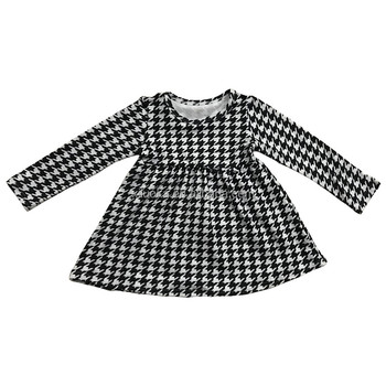 Wholesale Cotton Children Clothes Breathable Kids Girl Dress Long Sleeve Baby Dress