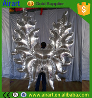 butterfly dancing costume /inflatable wings costume for party decoration