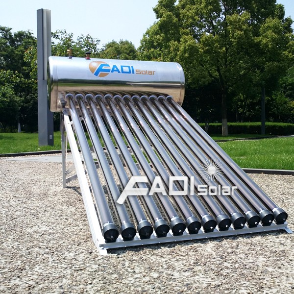 12Tube Stainless Steel Pressure Solar Water Heater (100L)