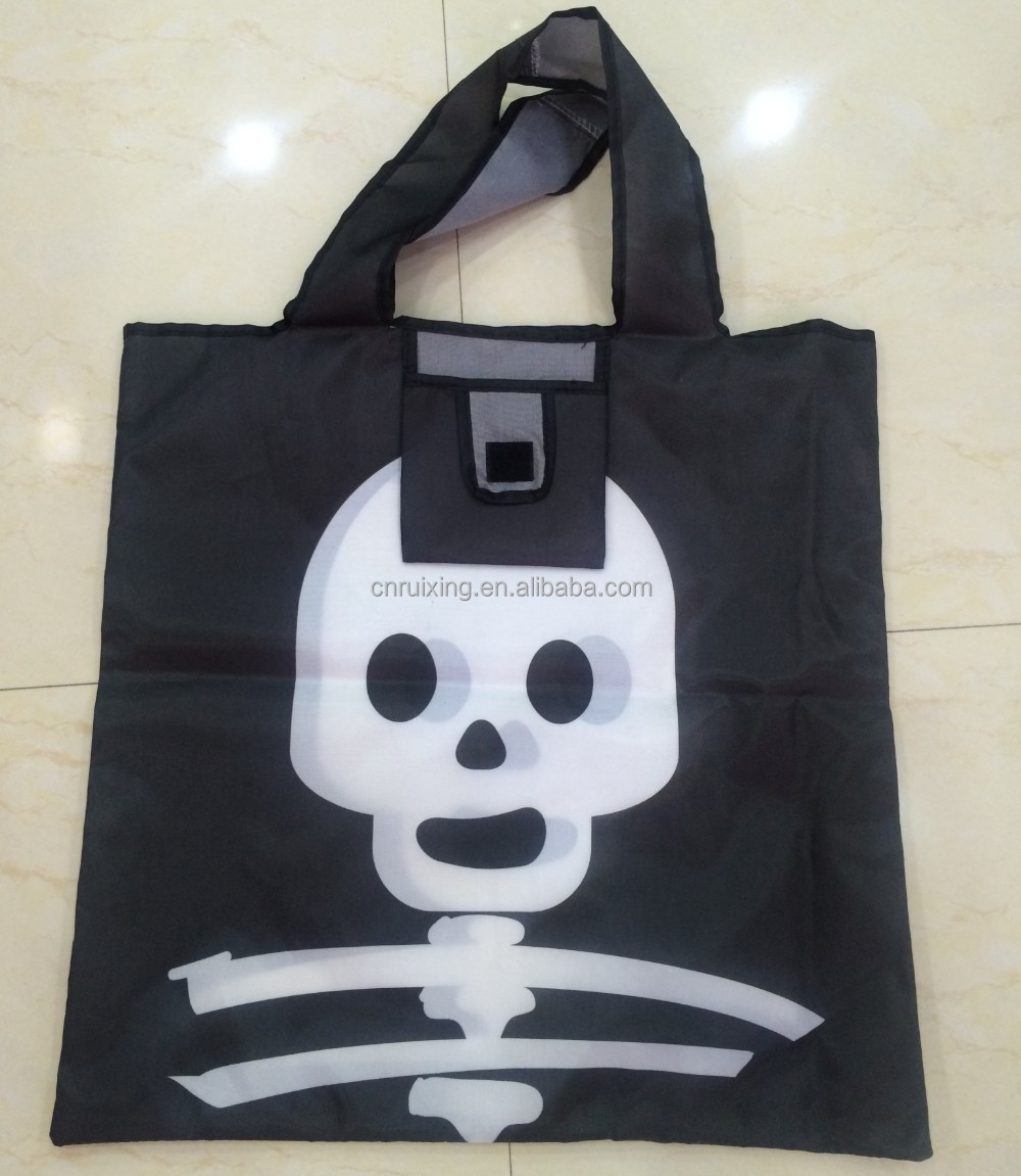foldable polyester bag halloween bag