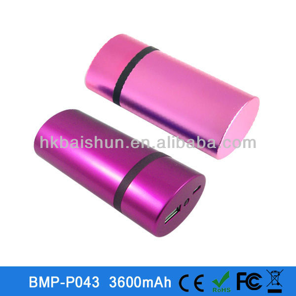 2013 New style 3600mah external battery powerbank for ipad/iphone 5/Nokia/Blackberry