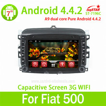 FOR Fiat 500 Android 4.4 gps navigation dvd RDS,Telephone book,AUX IN,GPS,WIFI,3G,Built-in wifi dongle
