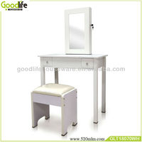 modern table with dressing room mirror