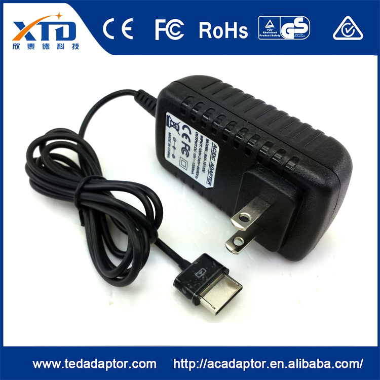 Alibaba certified manufacturer 15v 1.2a US plug charger 40 pin for ASUS Tablet TF301 <strong>101</strong>