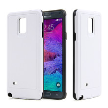 wholesale cell phone accessories white color pc tpu phone cases for samsung galaxy note 4