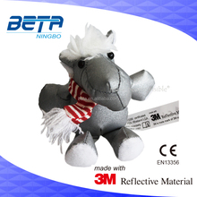 Hi quality customized 3M Reflective 3D Toys promotional gifts, safety hanger animal reflector under CE EN13356