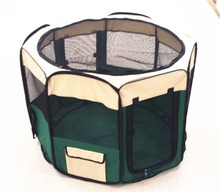 Lightweight Collapsible Wire-Framed Travel Pet Dog Playpen Play Pen