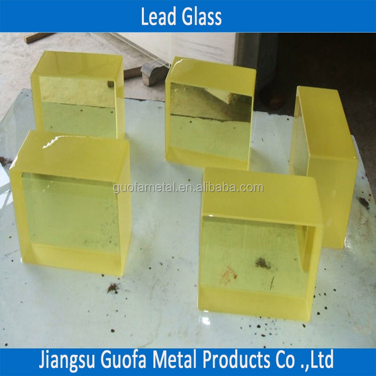 25mm 30mm 40mm ZF7 X Ray Shielding Lead Glass