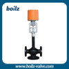 Electric bellow 3 way carbon steel control valve