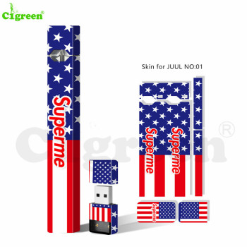 Cigreen Paper Cover Skin Sticker Electronic Cigarette Skin for Juul pod and Charger