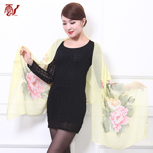 Best-selling 100% silk tulle fabric scarf shawl for lady