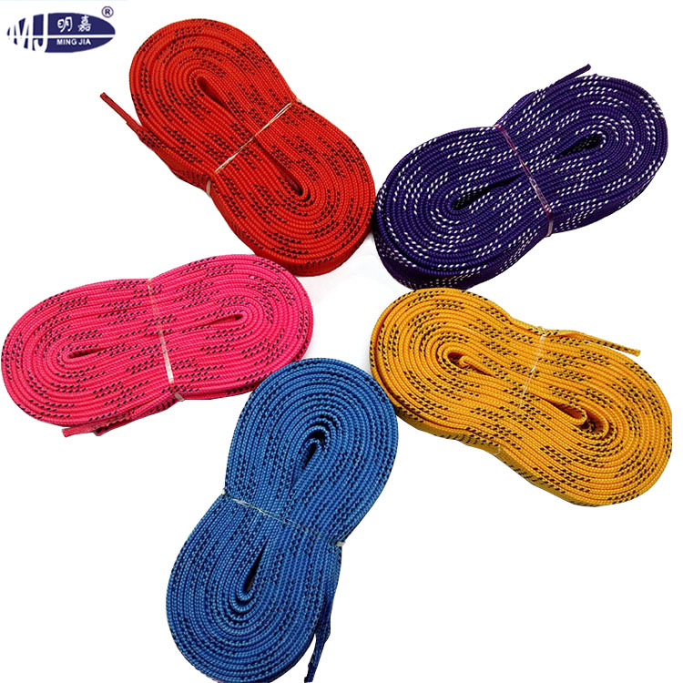 ice hocky skate shoe laces with mould tip customized