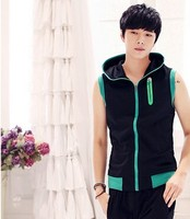 Zip up hoodie hot sale for 2015 bodybuilding apparel zipper sleeveless hoodie for mans