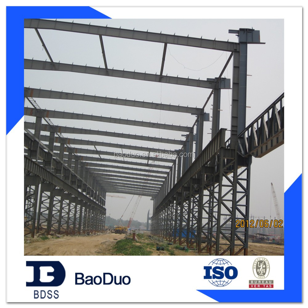 ISO9001& BV certificate steel structure prefabricated warehouse/workshop