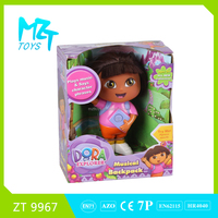 2016 New !Eco-friendly Vinyl 6 inch Dora doll with music toys ZT9967