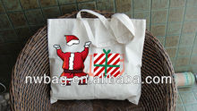 Cheap Eco-friendly Fabric Canvas Large Christmas Bags,handmade cotton fabric shopping bag,designer cotton shopping bag