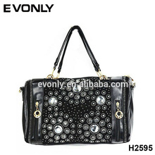 H2595 Factory Supply High Quality Trend Fashion Women Elegant Handbag, Best Selling Dinner Diamond Handbag