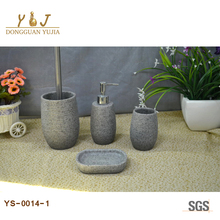 Sandstone Resin Bathroom Accessories Set For home and Hotel