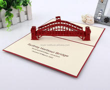 printed decoration 3D greeting card sydney harhour bridge