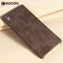 Mocolo PU Leather Case for Sony Z5, Mobile Phone Back Cover Case for Sony Z5