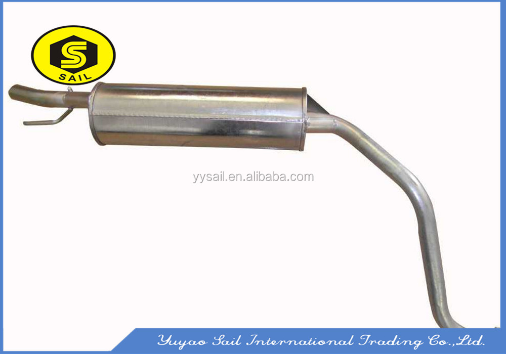 Silence aluminized/stainless steel exhaust muffler for truck
