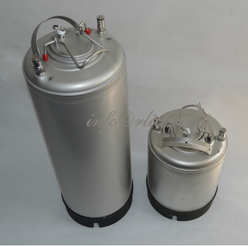 Stainless Steel 304 Ball Lock Cornelius style Beer Keg - 9 Litre/2.5Gallon, Lid with Pressure Relief Valve, New, Homebrewing