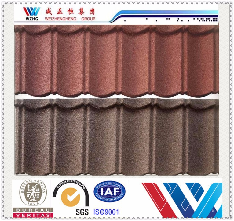 China supplier Waviness Stone Coated Roof Tile/Aluminum Zinc Roofing Shingle/Colorful Sand Coated Steel Roof