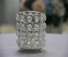 small tea light crystal beaded candle holders cheap